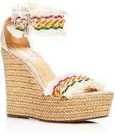 Schutz Women's Munika Woven Ankle Strap Platform Wedge Sandals