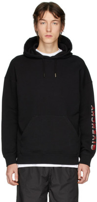 Givenchy Black Tufted Logo Hoodie