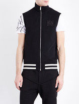 Alexander McQueen Logo-embroidered cotton-jersey gilet