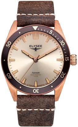 Elysee Unisex Adult Analogue Automatic Watch with Leather Strap 98011