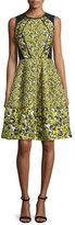 Oscar de la Renta Sleeveless Floral-Print Cocktail Dress