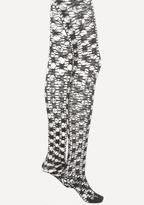 Bebe Rhinestone Open Knit Tights