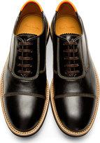 Paul Smith Black & Orange Leather Almoral Oxfords