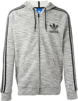 adidas striped sleeves hoodie - men - Cotton/Polyester - L