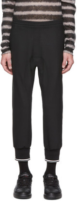 Neil Barrett Black Wool Double Cuff Cropped Trousers