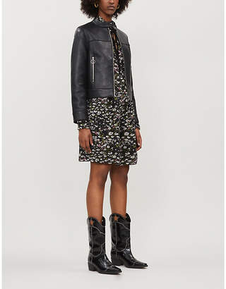 Claudie Pierlot Cosmoh leather jacket