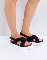 Monki Mesh Cross Over Sandals