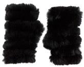 Jocelyn Women's Genuine Rabbit Fur Fingerless Mittens