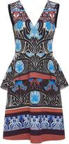 Clover Canyon Nouveau Sunset Sleeveless Peplum Dress