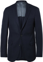 HUGO BOSS Navy Roan Slim-Fit Stretch Virgin Wool Blazer