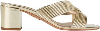 Aquazzura Perugia Leather Slide Sandals
