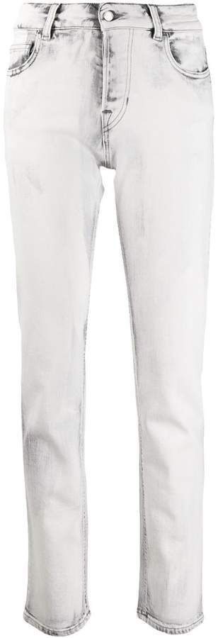 Emporio Armani marble-effect wash jeans