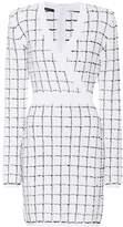 Balmain Checked tweed dress