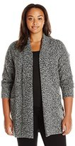 Rafaella Women's Plus Size Boucle Cardigan Sweater