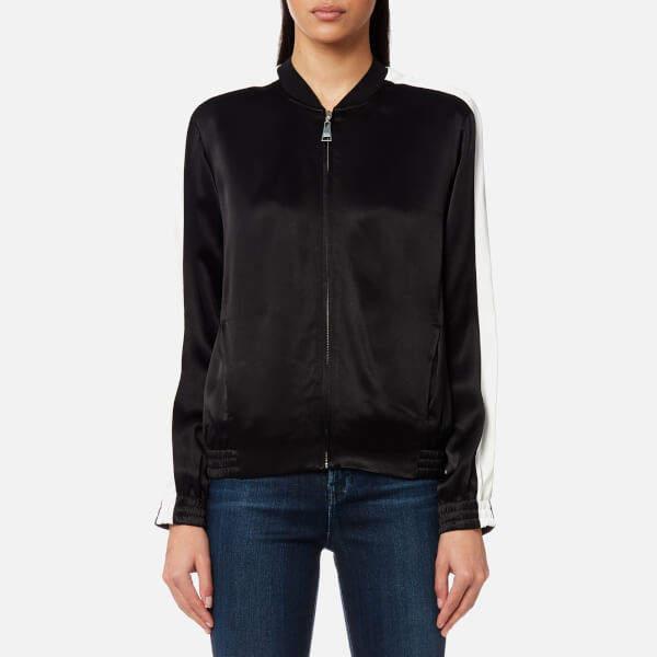 Karl Lagerfeld Women's Satin Bomber Jacket Black