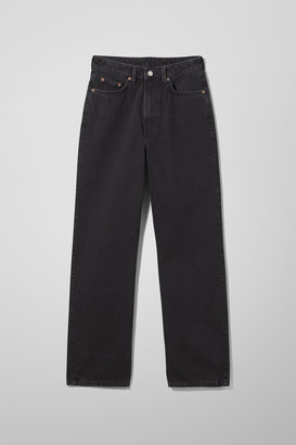 Weekday Rowe Extra High Straight Jeans - Black