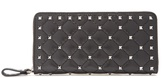 Valentino Rockstud Spike quilted-leather continental wallet