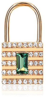 Ef Collection 14ct Yellow Gold Lock Earring (single)