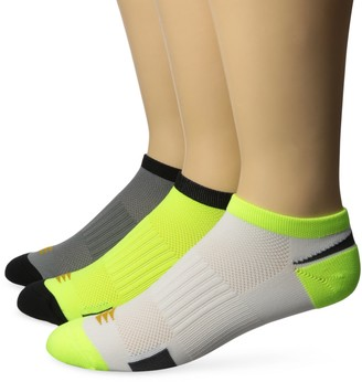 PowerSox Men's Lightweight No Show Socks with Mositure Control 3 Pairs
