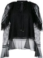 Just Cavalli - lace overlay blouse