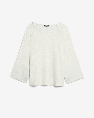 Express Heathered Satin Dolman Sleeve Tee
