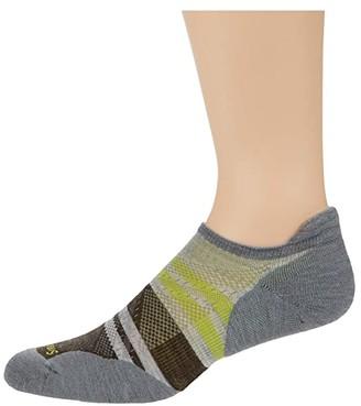 Smartwool PhD Run Light Elite Pattern Micro (Ash) Men's Crew Cut Socks Shoes