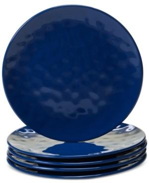 Certified International Cobalt Blue Melamine Set of 6 Salad Plates