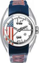 Chronotech Men's CT.7704M/28 Blue Plastic Band Watch.
