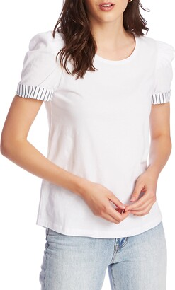 Court & Rowe Puff Sleeve Tee with Contrast Cuffs