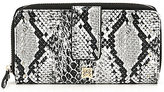 Kate Landry Snake Zip-Around Wallet