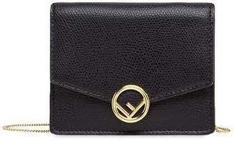 Fendi small chain wallet bag black