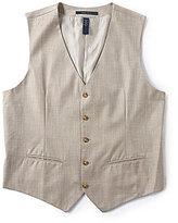 Perry Ellis Big & Tall Herringbone Vest