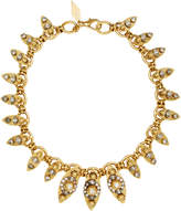 Nicole Romano 18K Gold-Plated Crystal-Embellished Marquis Necklace