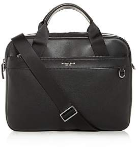 Michael Kors Bryant Pebbled Leather Briefcase