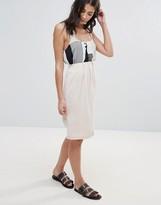 Neon Rose Asymmetric Skirt