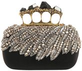 Alexander McQueen Beaded Satin Knuckle Box W/ Stones