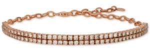 LeVian Le Vian Nude Diamond Double Row Bracelet (2-1/2 ct. t.w.) in 14k Rose Gold