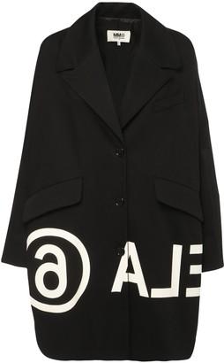 MM6 MAISON MARGIELA Oversized Logo Cotton Denim Jacket