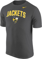Nike Men's Charcoal Georgia Tech Yellow Jackets Arch Over Logo Performance T-Shirt