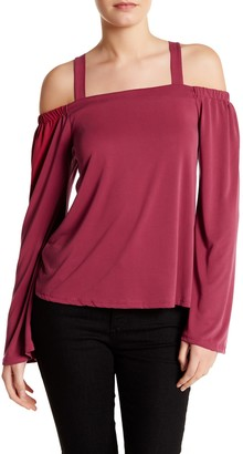 Dee Elly Bell Sleeve Cold Shoulder Blouse