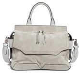 Rag & Bone Micro Pilot Suede & Leather Satchel - Metallic