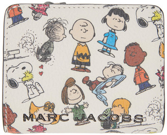 Marc Jacobs White Peanuts Edition Snoopy Compact Wallet