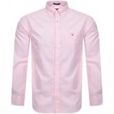 Gant Gingham Check Long Sleeved Shirt Pink