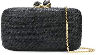 Kayu woven straw clutch