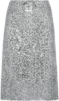 Flowerry Women Sequin Skirt Knee Length Sequin Skirt Party Sequin Skirt L