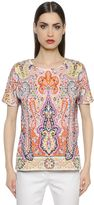 Etro Oversized Printed Cotton Jersey T-Shirt