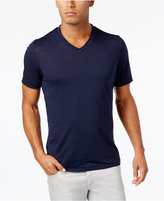 INC International Concepts Men's Distressed V-Neck Cotton T-Shirt, Only at Macy's