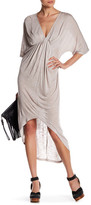 Anama Ruched V-Neck Dress