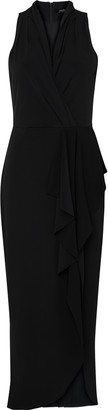 Wallis Black Halter Neck Drape Maxi Dress