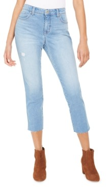 Style&Co. Style & Co Straight-Leg Cropped Denim Jeans, Created for Macy's